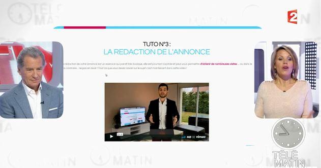 Commentvendreseul.com sur FRANCE 2 dans Télématin avec William Leymergie et Laura du web !